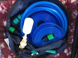 Aquaroll mains adapter, hose and waste