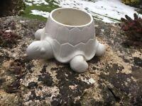 White China Turtle plant pot holder