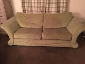 Large sofa and cuddle chair