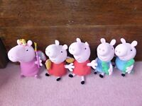 Selection of lovely cute Peppa Pig soft toys
