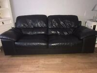 LEATHER 3 SEATER SOFA VERY VERY GOOD CONDITION ONLY £150 -CREGAGH AREA free 2 seater