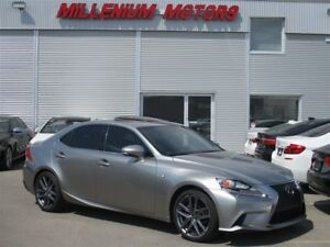 2015 Lexus IS 250 AWD F-SPORT / NAVI / B.CAM / B.S.M / SUNROOF