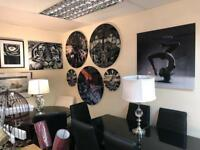Designer Large Glass Clocks, Harley Davidson and Aircrafts