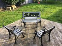 Lovely children bench table and two chairs