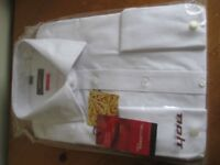 NEW WITH TAGS - LONG SLEEVE WHITE SHIRT - SIZE 17