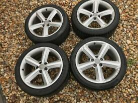 "Audi A5 18"" GENUINE alloy wheels rims and tyres 8.5x18 ET29 5x112 OEM wheels"