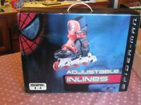 Inline Spiderman Adjustable Roller Blades/Skates Size 2-4 Brand New in Box Never Worn