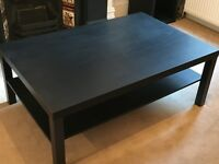 Ikea Lack Coffee table in Black, only 12 months old - comes with FREE side table