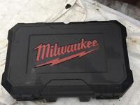 Milwaukee empty power tool box