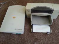 HP Deskjet 895cxi Printer & HP Scanjet 4100c Scanner For Sale