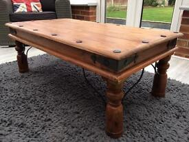 Lovely rustic solid wooden coffee table
