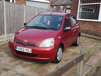 Toyota yaris - ideal first car, mot until march 2019. Last serviced march 2018. Open to offers