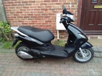 2013 Piaggio FLY 50 automatic scooter, long MOT, good condition, standard 50cc, ride away, bargain,,