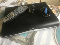 Sky + HD box with remote