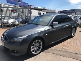 BMW 5 SERIES 520D M SPORT VERY ECONOMICAL SUPERB DRIVE FULLY LOADED SAT NAV LEATHER INTERIOR ETC!