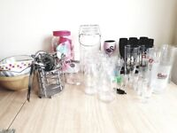 Glasswear and garden party bits