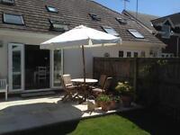 Wood Sun Beam Umbrella For Sale