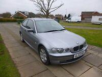 2003 BMW 316 TI SE COMPACT SILVER 12 MONTH M.O.T.