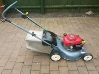 Honda petrol lawnmower self propelled