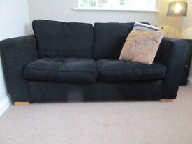 DFS Black Velveteen sofa bed, excellent condition