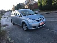 TOYOTA CORROLA VERSO T3 D4D 2.2 Diesel 2007. 7 seater 1 OWNER FULL TOYOTA SERVICE HISTORY £2195