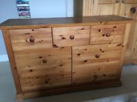 Solid pine chest of drawers - 2 available