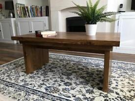 Coffee Table Vintage Style Design - Hand Made Solid Wood