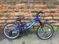 "New Falcon Cobalt 20"" Kids Boys Mountain Bike Full Suspension Bicycle 6Spd RRP £199"