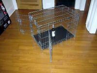 PetsAtHome Double Door Dog Training Crate - Small