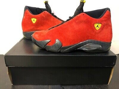 "Jordan 14 Retro ""Ferrari"" Mens Size 9.5 Red"