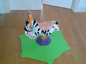 Fisher Price Bounce and Spin Zebra - excellent condition