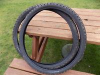 2 Mountain bike tyres 26in x1.95