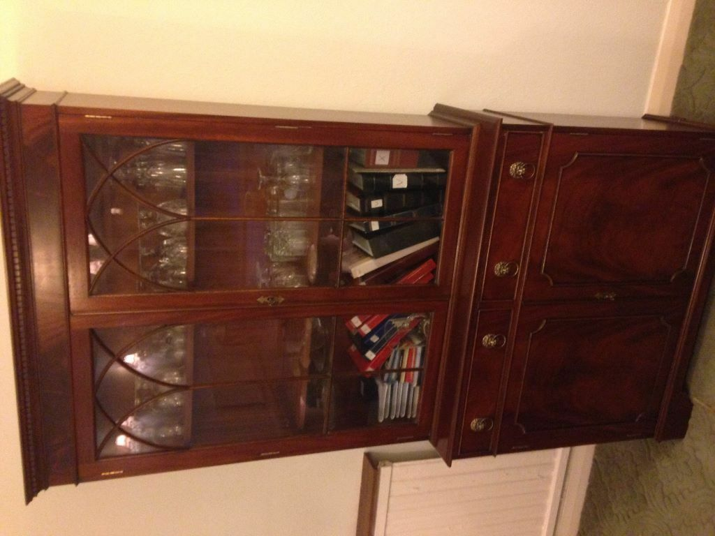 J Sydney Smith Cabinet Makers Wood Glass Cabinet Rrp