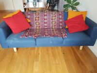 Comfy blue sofa - FREE - collection only w/c 26th March