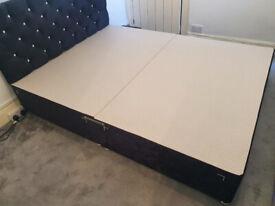 ComfoRest 5FT KING 4 Drawers Black Velvet IBEX Divan Bed Set -Base