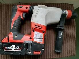 Milwaukee HD18HX-0 M18 SDS+ Hammer drill plus 4.0ah battery