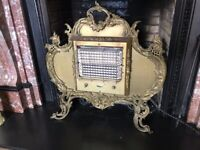 VINTAGE BELLING PERIOD ELECTRIC FIRE ORNATE GILT FINISH