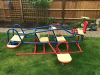 Lifetime Ace Flyer Airplane Teeter Totter See-Saw in Red - USED