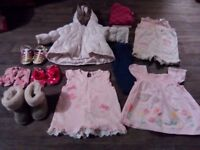 Girls baby clothes bundle 6-9 months