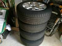 Vw passat alloys wheels 205/60r15 in usable conditions