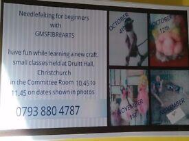Needlefelting for beginners classes