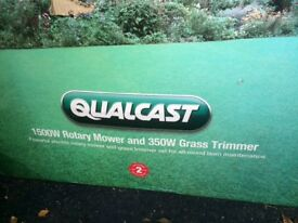 Electric lawn mower and strimmer. 1 yr old. Under guarantee still. Excellent condition as new