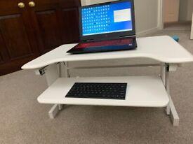 Sit Stand Desk | Desktop Workstation | Height Adjustable Standing Desk | Like New £70