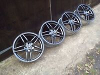 "17"" Alloy Wheels 4x100 Mini-Vauxhall-Rover-Mg-Honda"