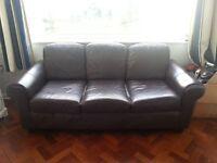 Dark Brown 3 Seater Ikea Sofa free