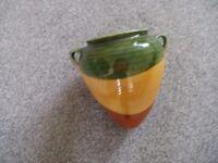 Glazed pottery flower pot