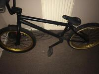Haro bmx matte black and gold pick up only