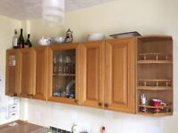 5 x Kitchen wall units 700mm High. 3 x Kitchen wall units 700mm High + 400mm x 400mm Base unit