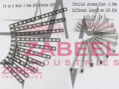 Bone Plate 3.5mm Cortical Screws 3.5mm Full Set Orthopedics Instruments Zabeel