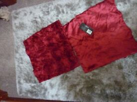 Red silk cusions